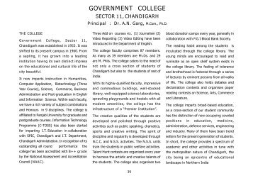 government college - Official Website of Chandigarh Administration