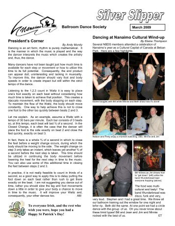 Silver Slipper, March 2009 - Nanaimo Ballroom Dance Society