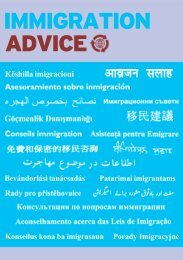 Immigration Advice Booklet Expanded for PDF - Law Centre NI