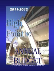 2011-2012 Adopted Budget - City of High Point
