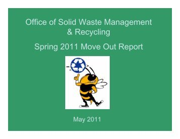 2011 Move Out Report - Georgia Tech - Office of Solid Waste ...