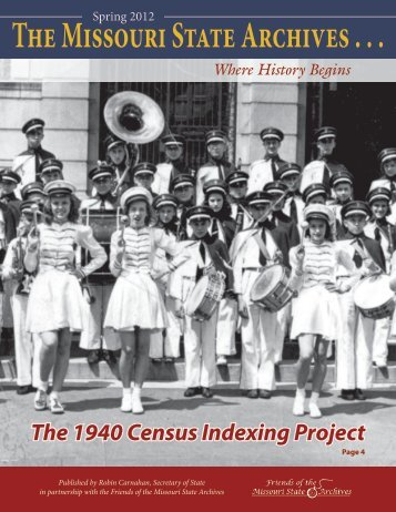 Spring 2012: The Missouri State Archives Newsletter - Friends of the ...
