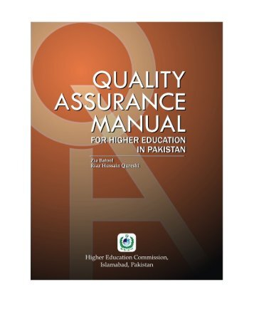 A Manual of Quality Assurance in Higher Education