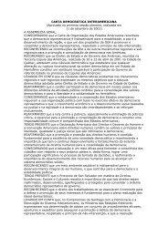 CARTA DEMOCRÁTICA INTERAMERICANA (Aprovada na ... - Abert