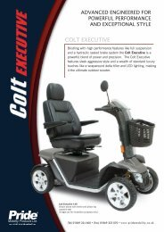 Download the Pride Colt Executive brochure - Value Mobility Scooters