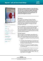 Njuren - och att leva med dialys - SLI.se