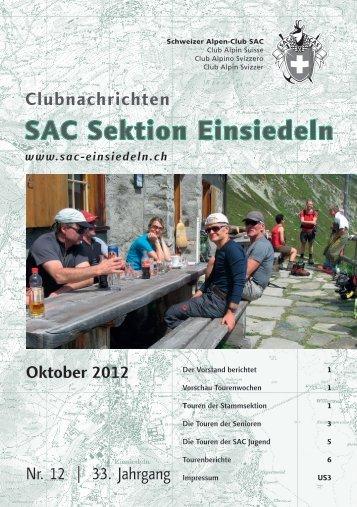 Oktober 2012 - SAC Einsiedeln