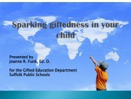 Sparking giftedness in your child - Suffolk Public Schools Blog
