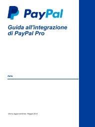Guida all'integrazione di PayPal Pro