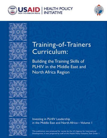 Training-of-Trainers Curriculum: - Health Policy Initiative