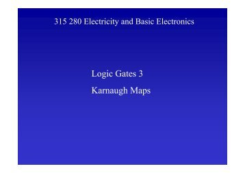 Logic Gates 3 Karnaugh Maps