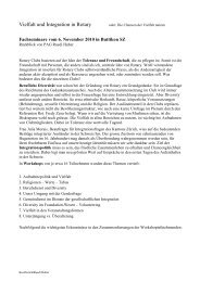 Vielfalt und Integration in Rotary - Rotary Schweiz