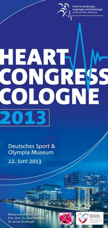 2013 HEART CoNGRESS CoLoGNE - Schweizerische Gesellschaft ...