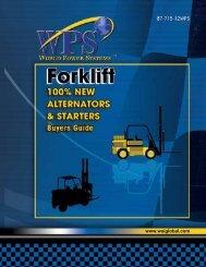 Forklift Alternators & Starters - WAIglobal
