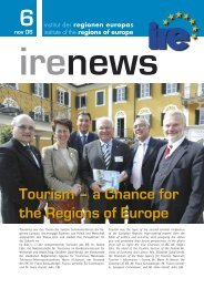 Tourism – a Chance for the Regions of Europe - Institut IRE
