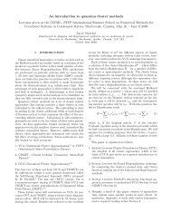 Lecture Notes on Quantum Cluster Methods