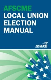 afscme local union election manual - AFSCME Council 24 WSEU ...