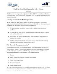 Suspension Policy Options - Center for Child & Family Policy