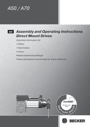 Assembly and Operating Instructions - Becker-Antriebe