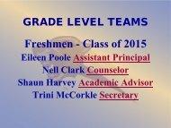 GRADE LEVEL TEAMS - Steele Canyon High School