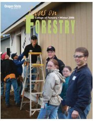 College of Forestry • Winter 2006 - Oregon State University