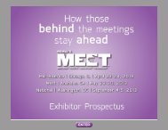 MEET 2013 Exhibitor Prospectus - J. Spargo & Associates