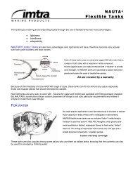 NAUTA® Flexible Tanks - Imtra