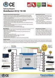 Cyfrowy Ekspert MultiSwitch CE 9/16 HD - SatTeam