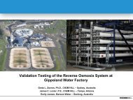 Reverse Osmosis System Integrity Testing and Ongoing Operations ...