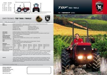 DATI TECNICI: TGF 7800 / 7800LE - Antonio carraro
