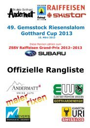 Offizielle Rangliste - ALGE-TIMING Schweiz