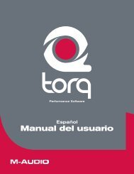Manual de instrucciones de Torq - M-Audio