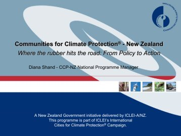 Communities for Climate Protection® - New Zealand - Institute for ...