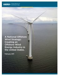 A National Offshore Wind Strategy - EERE - U.S. Department of Energy