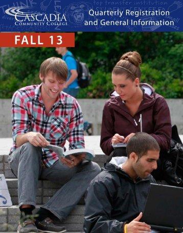 Fall 2013 - Cascadia Community College