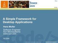 A Simple Framework for Desktop Applications - Java