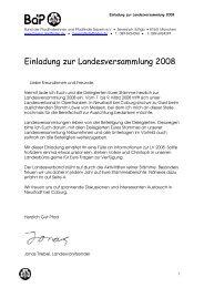 Bund der Pfadfinderinnen und Pfadfinder LV Bayern e - BdP ...