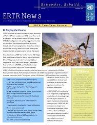 ERTR News - UNDP