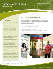 International Studies - College of Arts and Sciences - Nova ...