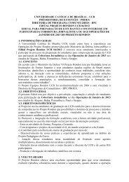 edital - Universidade Católica de Brasília