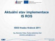 Aktualní stav implementace IS ROS - Správa základních registrů