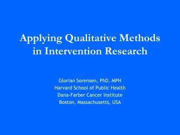 Applying qualitative methods - The INCLEN Trust