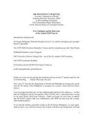 1 DR. FRANCISCO T. DUQUE III Secretary, Department of ... - DOH
