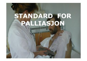 STANDARD FOR PALLIASJON - Ous-research.no