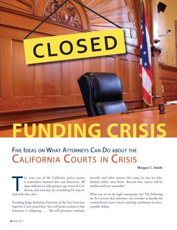 california courts in crisis - The Bar Association of San Francisco