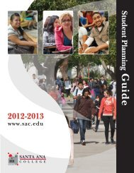 Student Planning Guide - Santa Ana College