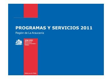 programas y servicios 2011 - Asociación Chilena de Municipalidades