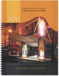 Long Beach Transit Comprehensive Annual Financial Report FY 2011