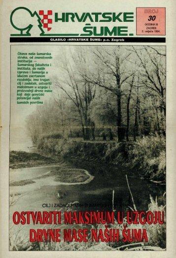 HRVATSKE ŠUME 30 (2.2.1994)