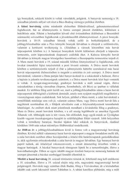 A magyarországi horvátok rövid története Sokcsevits Dénes A ...